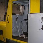 Neue Lüftungsrohre in der Kabine