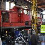 Auch eine V 60 eines anderen Unternehmens wird derzeit durch die Werkstatt der VEB revidiert