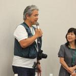 フリーランスカメラマン太田康介さんと、ANJ副代表・ねこひと会「猫のマリア」さんこと中村光子さん。