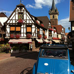 Obernai, a great place to visit... in a 2CV of course !