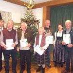 Hans Buchenberg,  Margot Wenning, Otto Gerle, Johann Rauh, Franz Wölfle wurden ebenfalls für 40 Jahre Mitgliedschaft geehrt