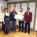 Franz-Xaver Buchenberg und Gudrun Notz (vertreten durch Georg Notz) wurden für 25 Jahre Mitgliedschaft geehrt