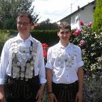 Schützenkönig Christian Dusch und Jungschützenkönig Michael Striegl