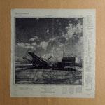 Preußenfeld Siebdruck auf alter Landkarte
