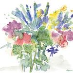 Blumenstrauss – Aquarell-Mischtechnik I