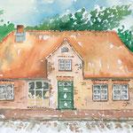 Haus Peters in Tetenbüll, Aquarell