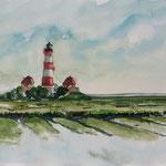 Leuchtturm von Westerhever Sand