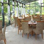 Frühstücksraum im Wintergarten