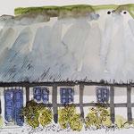 Reetdachhaus in Dänemark