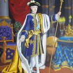De mantel is overgenomen uit het schilderij van Palko. De details in het schilderij zijn verwijzingen naar de achtergrond en interesses van de geportretteerde.