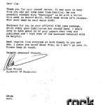 Letter from Alan Miller keeping Cadillac in the minds of KISS.