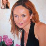 Портрет девушки, масло, холст, 60х70 см.