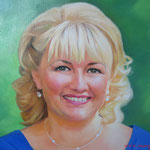 Портрет мамы невесты, масло, холст, 45х60 см.
