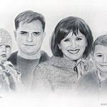 Семейный портрет, сухая кисть