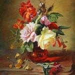 Цветы, копия с к. Симона Сен Жана, масло