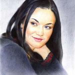 Портрет Маргоши, сухая кисть