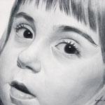 Портрет Насти, сухая кисть