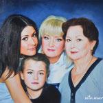 Семейный портрет, маслом на холсте, 60х45 см.