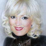 Портрет чемпионки СССР по худож. гимнастике Елены Холодовой, сухая кисть