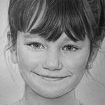 Фрагмент, портрет девочки, сухая кисть