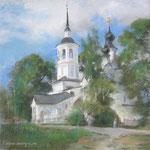 Церковь, Великий Устюг, пастель