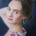 Портрет девушки, масло, холст, 30х40 см.,( за короткий срок - 4 дня)