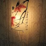 Роспись на настенной лампе в восточном стиле