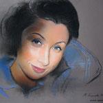 Женский портрет, пастель, 50х60 см.