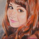 Фрагмент, портрет девушки, пастель