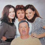Семейный портрет, масло, холст, 50х70 см.