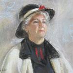 Портрет натурщицы, пастель
