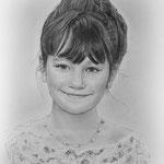 Портрет девочки, сухая кисть