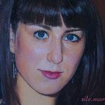 Фрагмент, портрет девушки, маслом на холсте