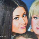 фрагмент, семейный портрет, маслом на холсте, 60х45 см.