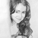 Портрет Юли, сухая кисть