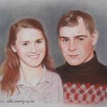 Семейный портрет, пастель