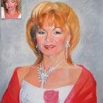 Портрет мамы невесты, масло, холст, 50х60 см.