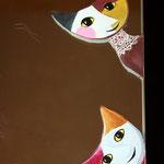 Декоративная  роспись на зеркале, 2 x 0,5м.