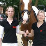 Magnum mit Heike und Pi beim Turnier in Rosendahl 2008