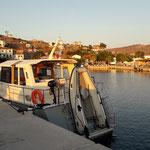 Längsseits im Hafen von Agios Efstratos