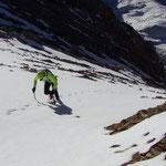 Alpiruning à la Dent Parrachée, Matthieu Brignon guide à Aussois en Haute-Maurienne