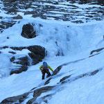 Partie basse de Roche Michel  -  Cascade guide Maurienne