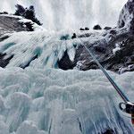 Second rappel, Glacenost, cascade de glace Haute-Maurienne