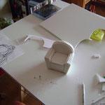 la structure du fauteuil en carton plume
