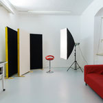 Studio-Beamer Leinwand, Hintergrundsystem