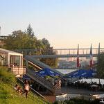 Café Restaurant Rheinpark mit Aussicht auf 3 Länder