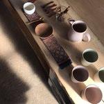 紅茶の器 ecote さん木のスプーンはこちらで