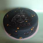 Star Wars taart met Darth vader