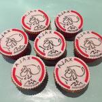 Voetbal cupcakes, Ajax