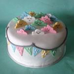 Babyshower taart met wolkjes